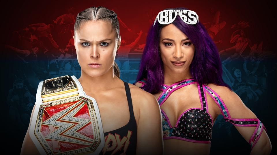 Ronda Rousey (c) vs. Sasha Banks