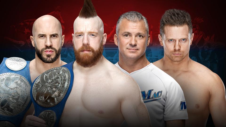 The Bar (Cesaro and Sheamus) (c) vs. The Miz and Shane McMahon