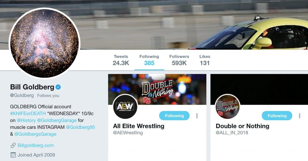 Goldberg Twitter