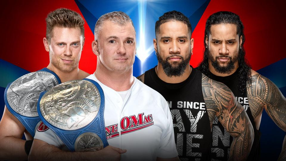 The Miz and Shane McMahon (c) vs. The Usos (Jey Uso and Jimmy Uso)